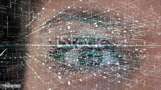 istock Iris recognition, virtual reality concept 1040067902