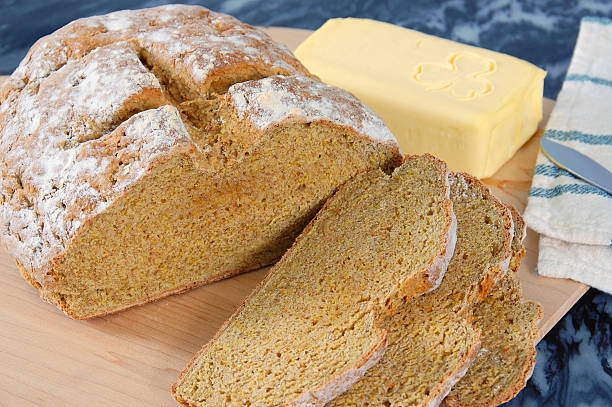 Irish Brown Bread stock photo