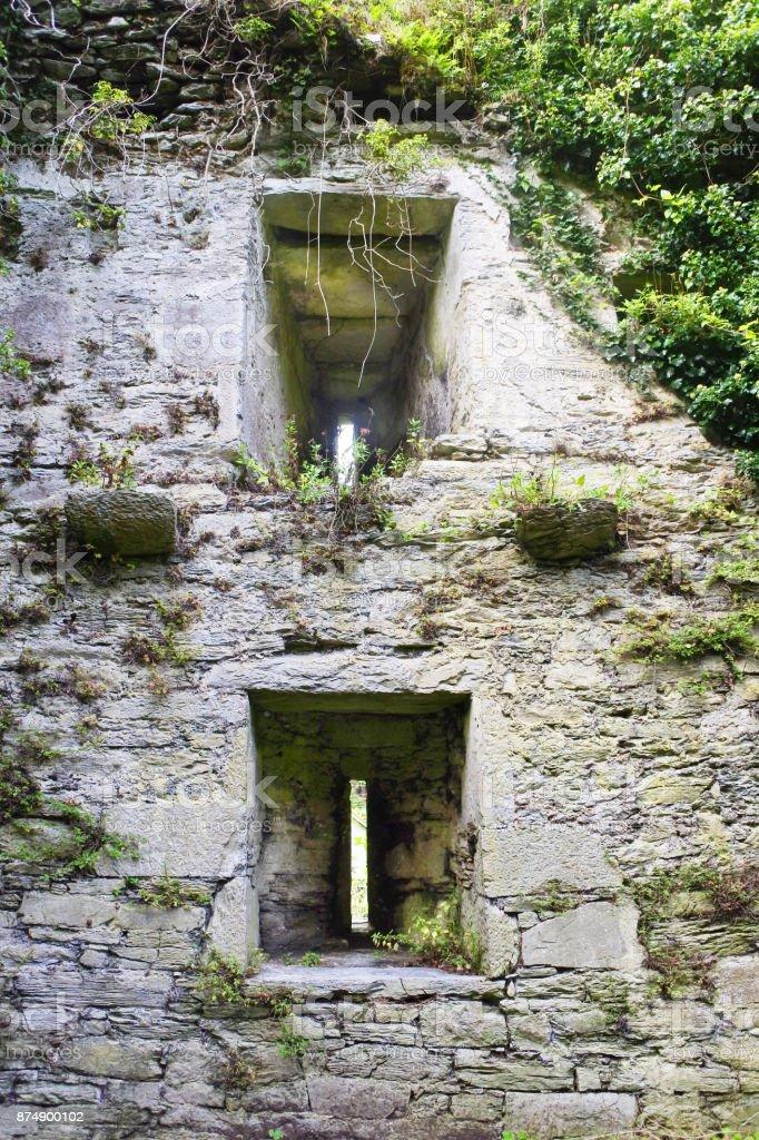Irish Castle, County Kerry, Ireland stock photo
