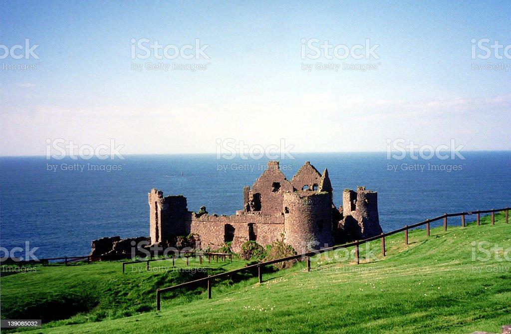 Irish Castle Ruins stock photo