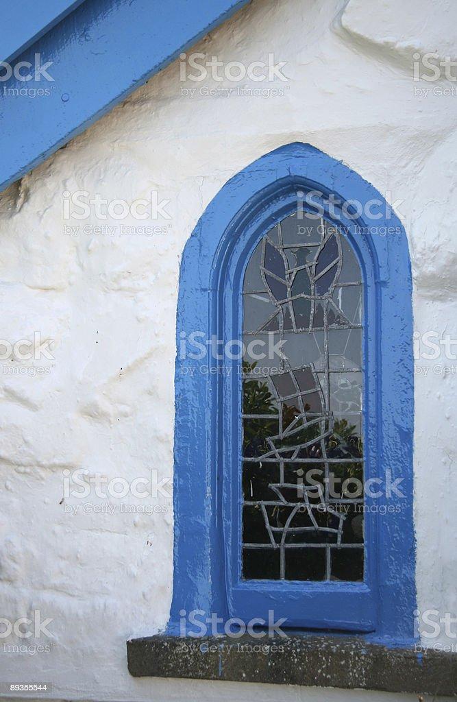 Irish church window royalty free stockfoto