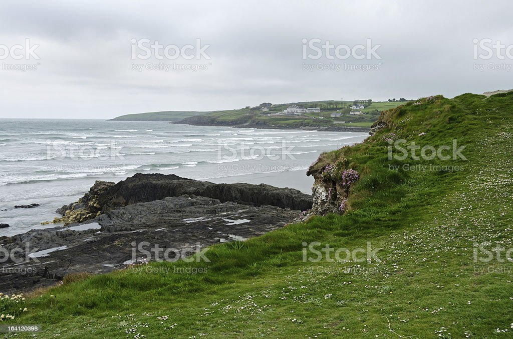 Irish coastline at Incheydoney Beach stock photo
