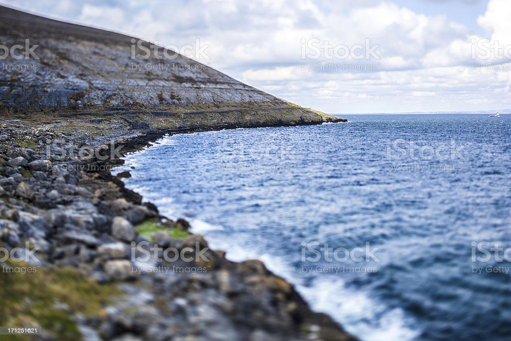Irish Coastline in County Clare royalty-free stock photo