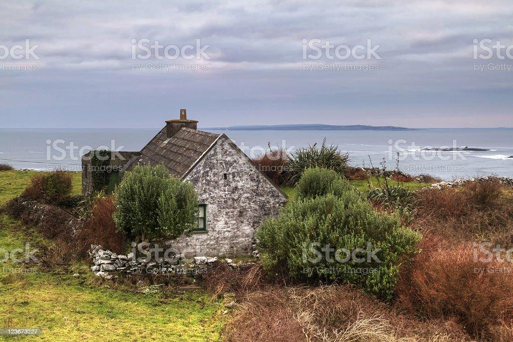 Irish cottage house stock photo