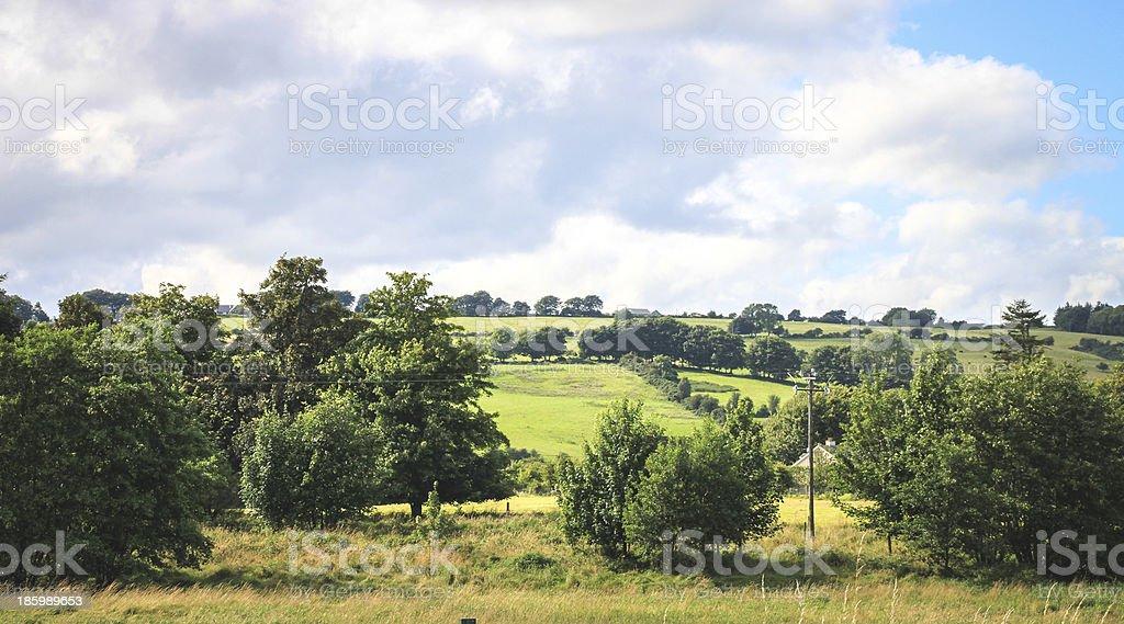 Irish countryside near Blessington, Ireland. stock photo