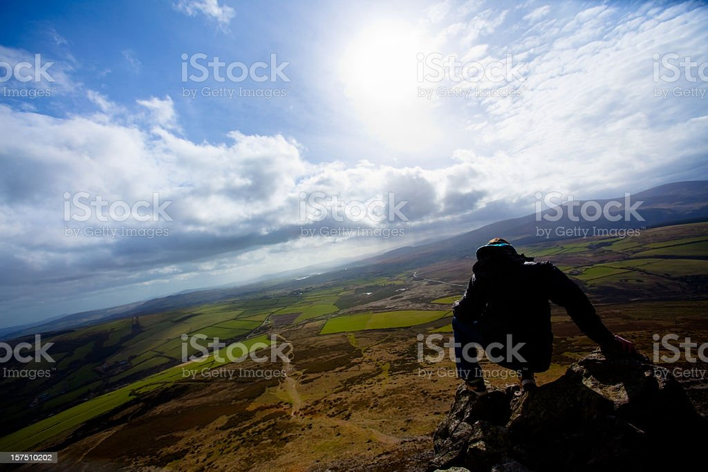 Irish Countryside on a Stormy Day royalty-free stock photo