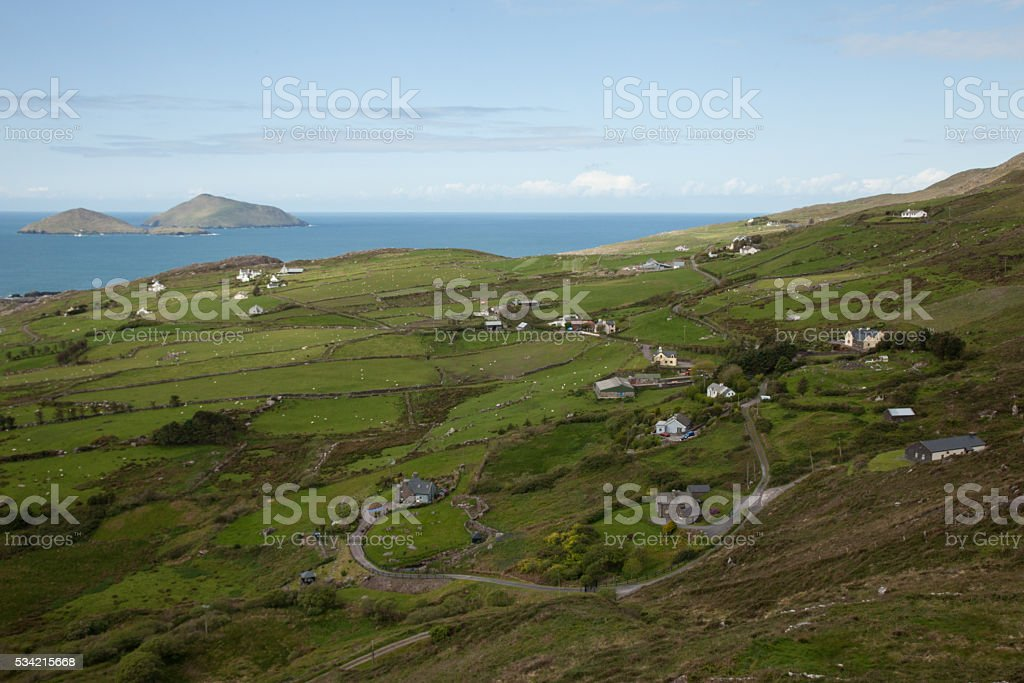 Irish countryside stock photo