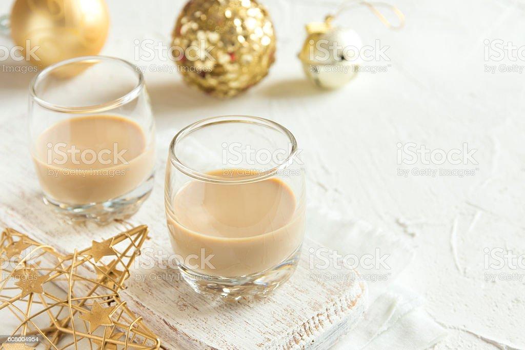 Irish cream for Christmas stock photo