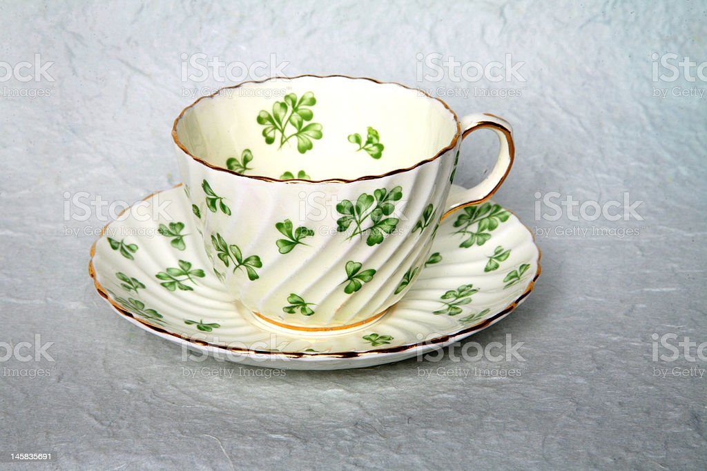 irish cup and saucer royalty-free stock photo