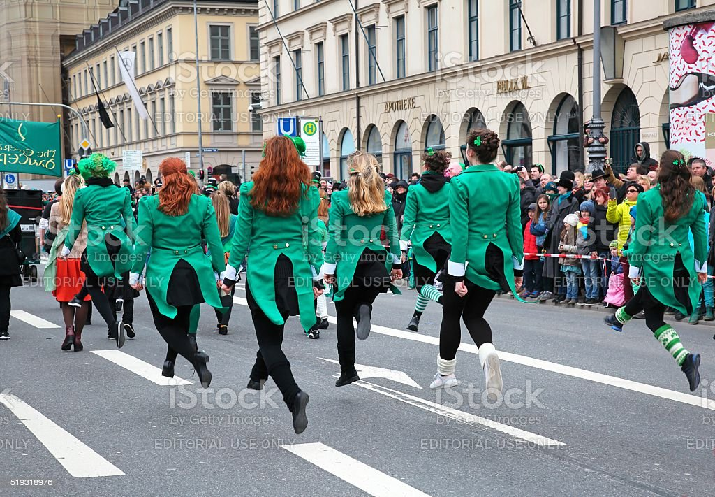 Irish dance stock photo