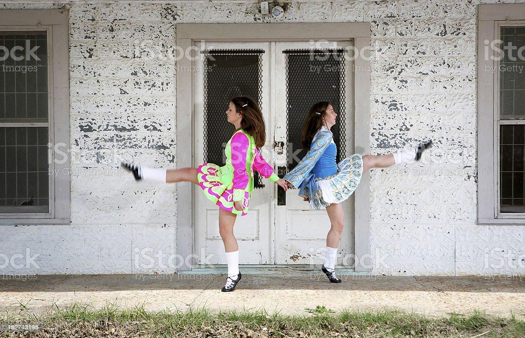 Irish Dancers stock photo