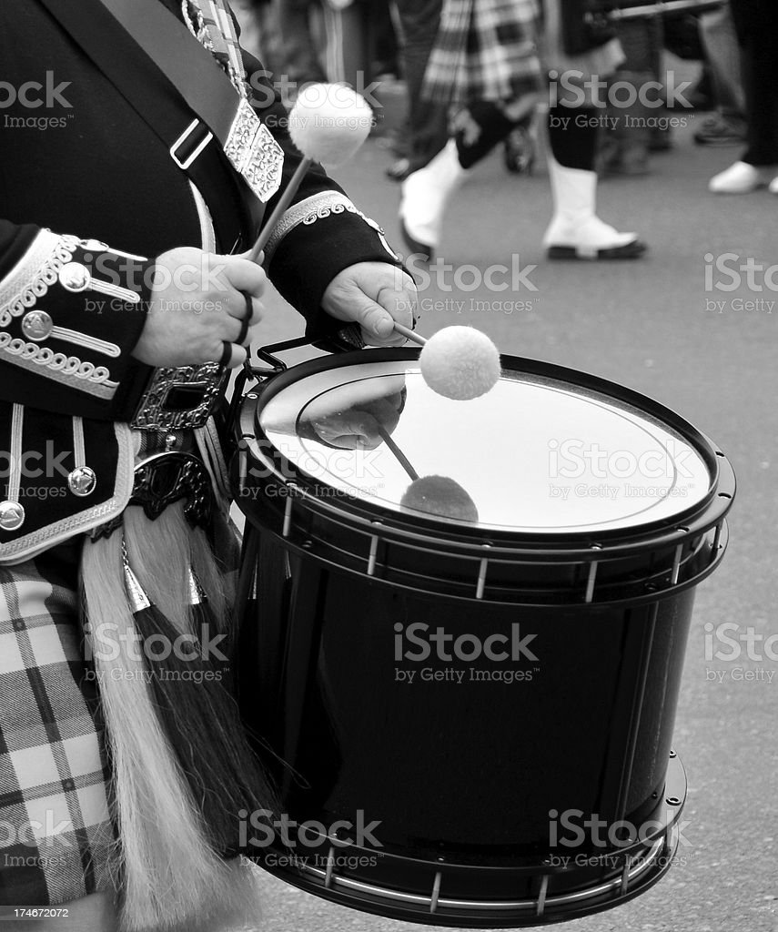 Irish Drummer stock photo