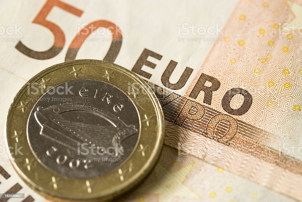 Irish Euro Coin stock photo