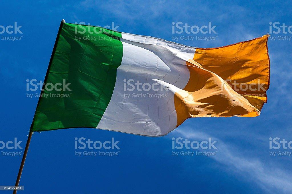 Irish flag - Bandeira da Irlanda stock photo