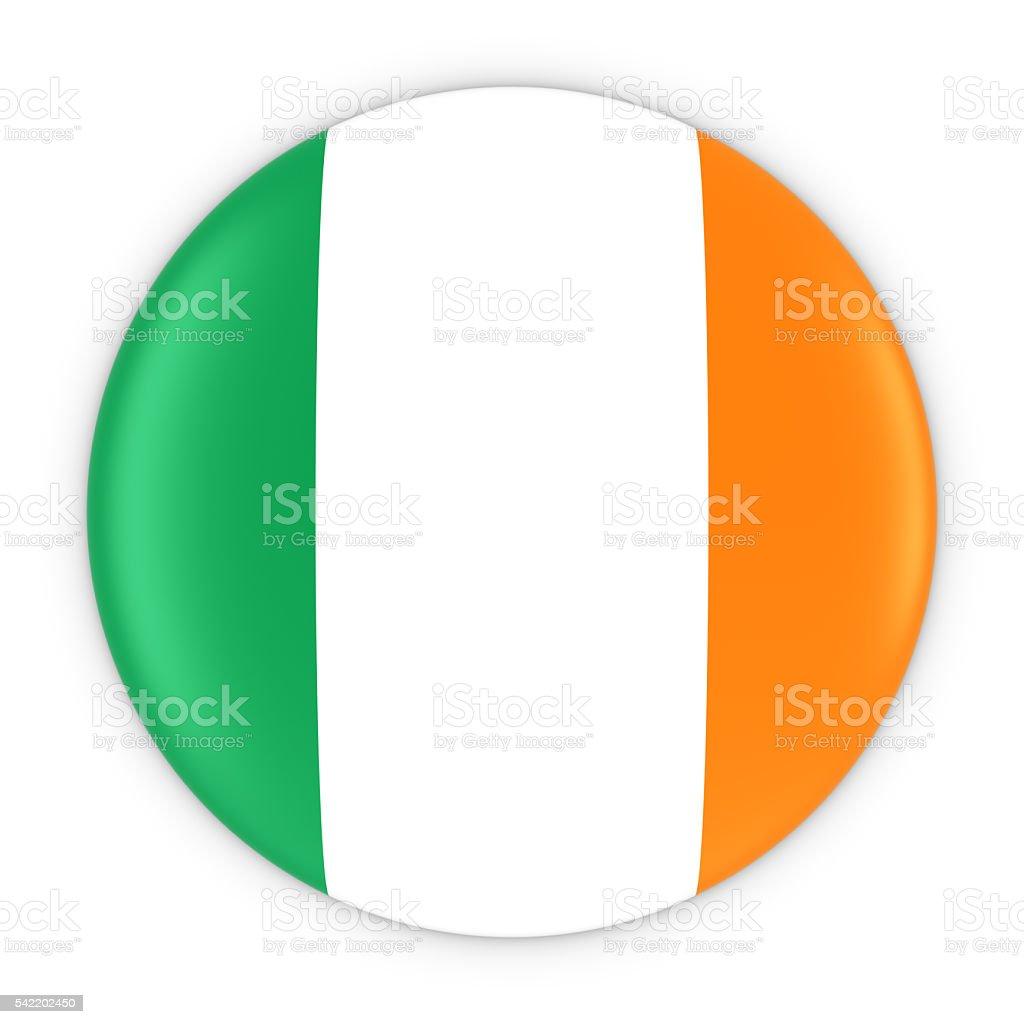 irish flag button flag of ireland badge 3d illustration stock
