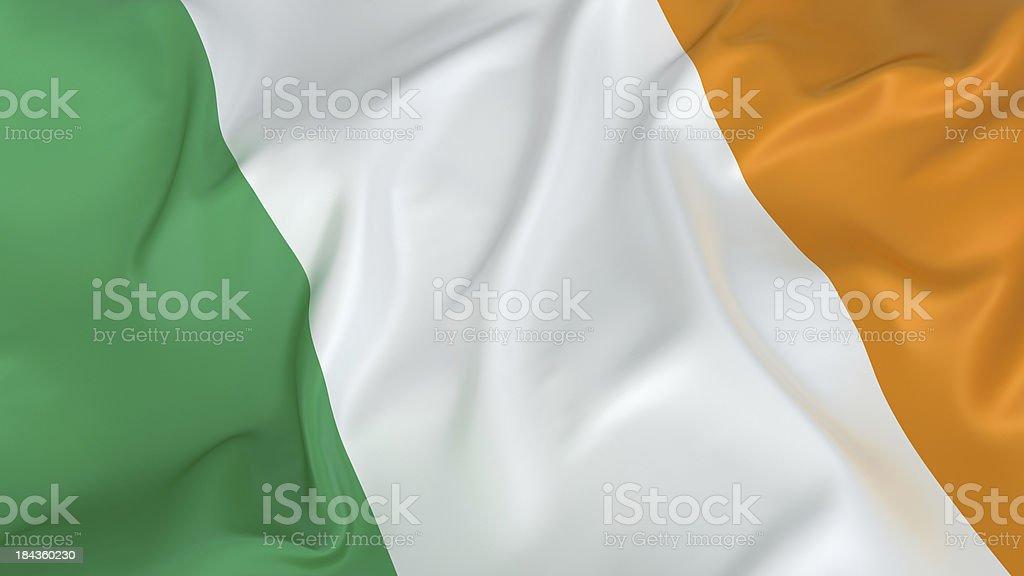 Irish flag in green, white, and orange stock photo
