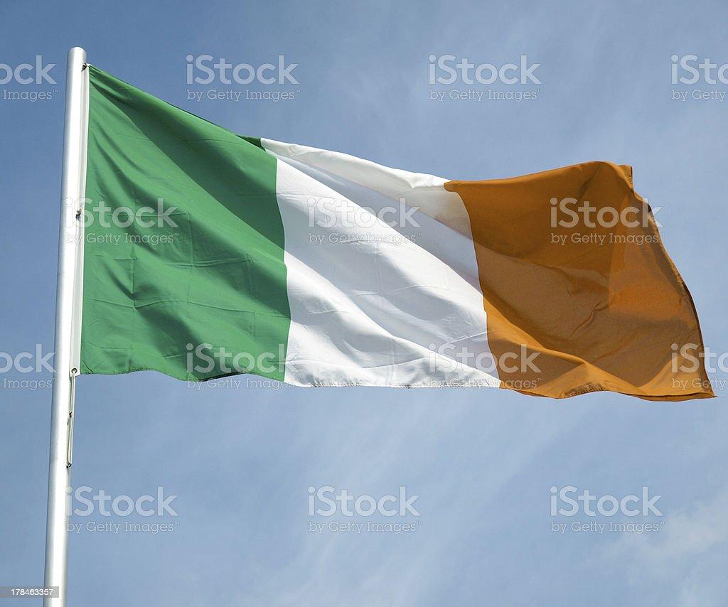 Irish flag stock photo