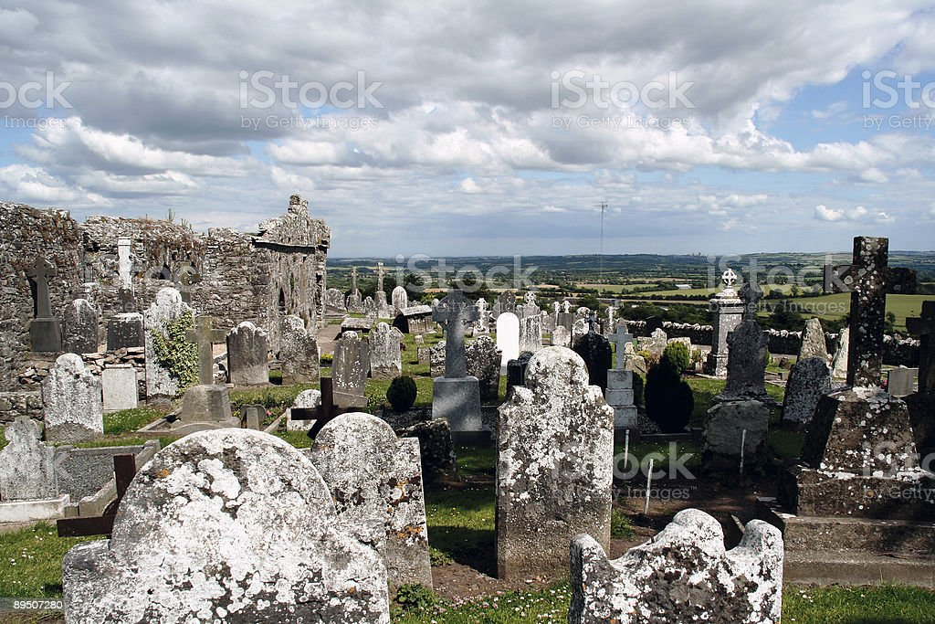 Irish graves royalty-free stock photo