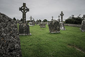 Beautiful scenery on a spooky and mystical graveyard