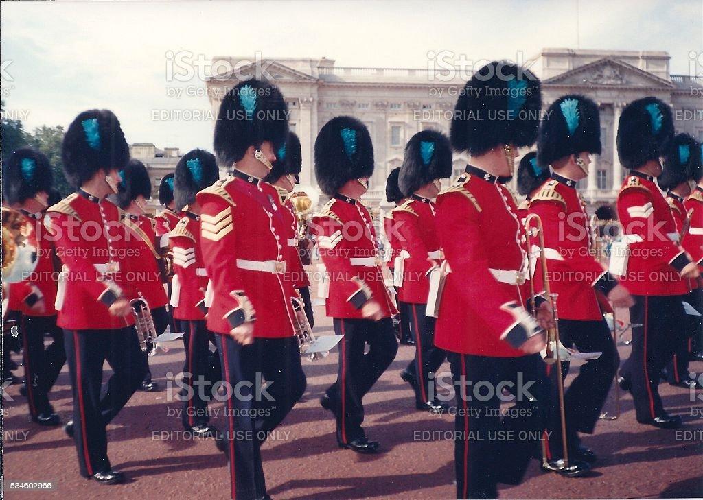 Irish Guards on Parade in London, England stock photo
