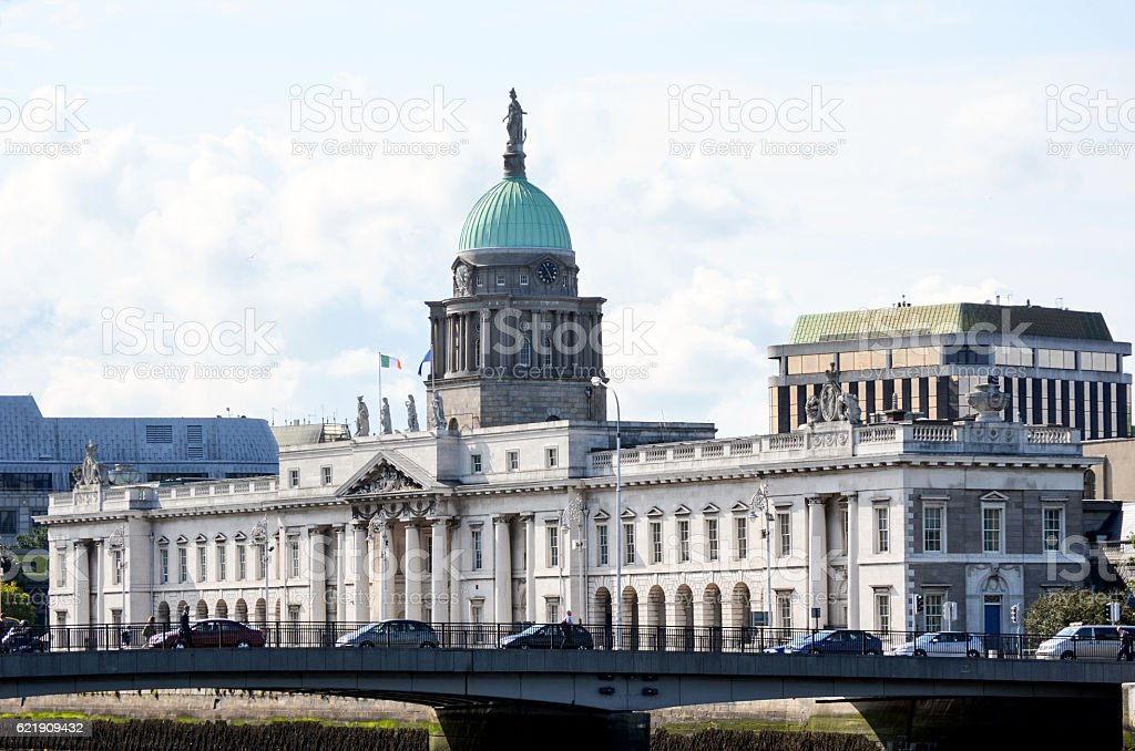 Irish Houses of Parliament stock photo