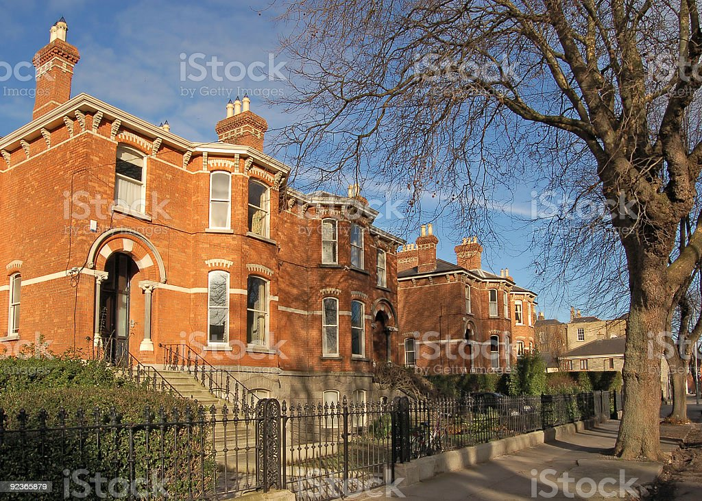 Irish Häuser Lizenzfreies stock-foto