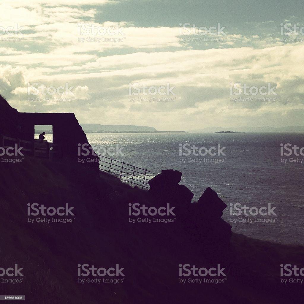 Irish landscape by the sea royalty-free stock photo