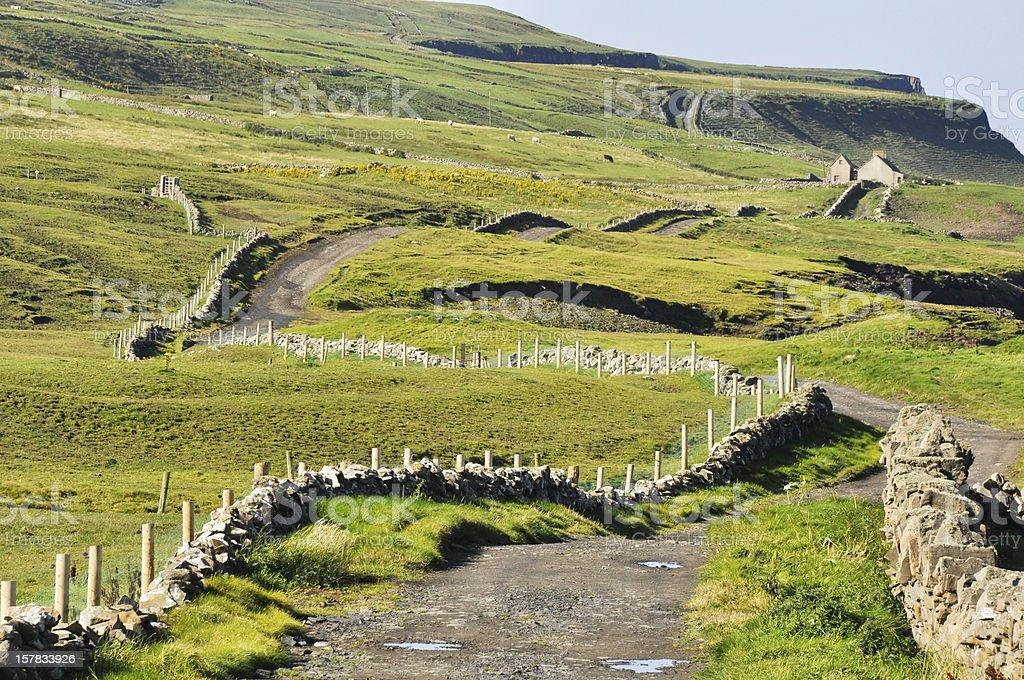 Irish Landscape, County Clare royalty-free stock photo