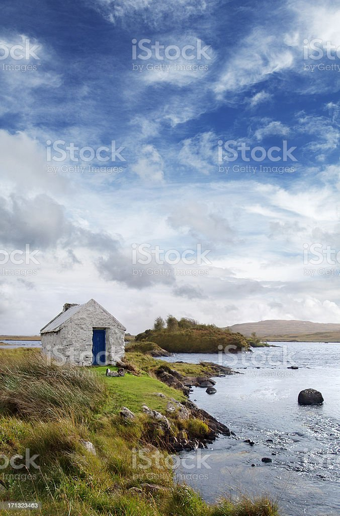 Irish landscape in Connemara stock photo