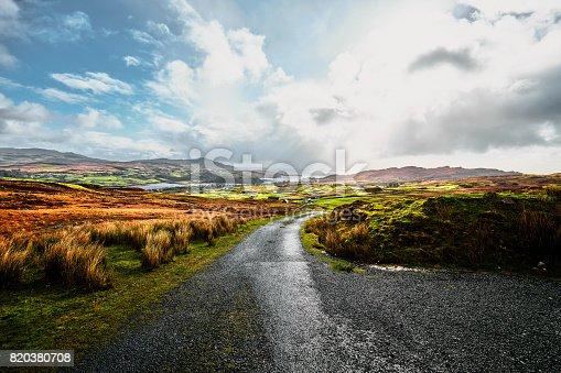 istock Irish landscape in County Donegal with a bright blue sky and sunshine 820380708