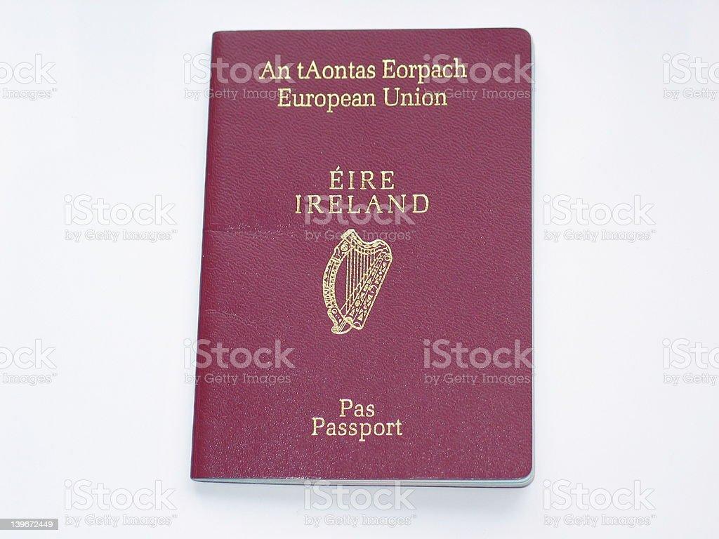 Irish Passport stock photo
