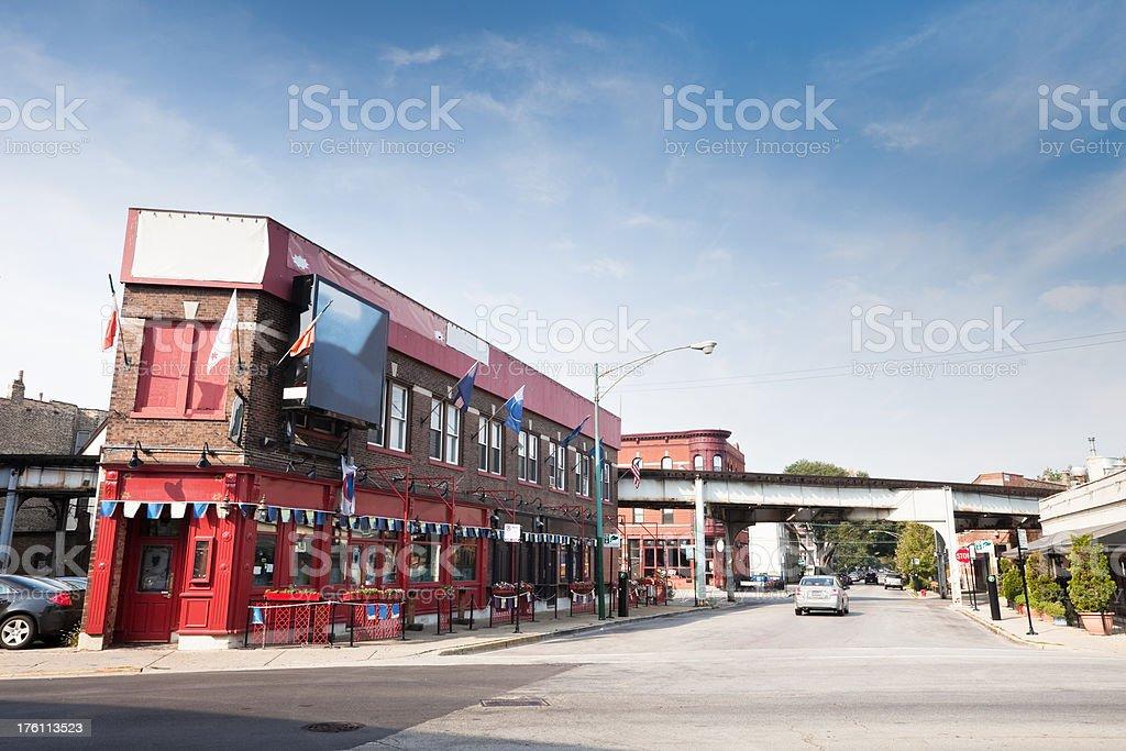 Irish Pub in Chicago Neighborhood royalty-free stock photo