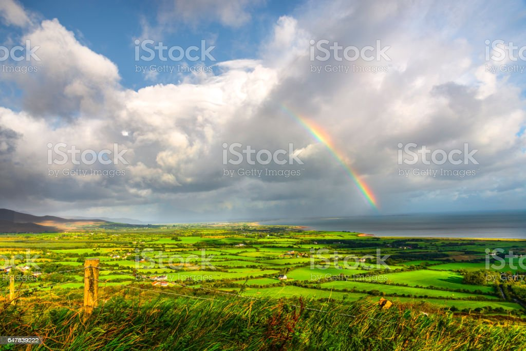 Irish Rainbow stock photo