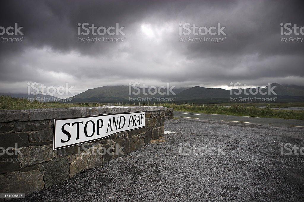 Irish roadside sign royalty-free stock photo
