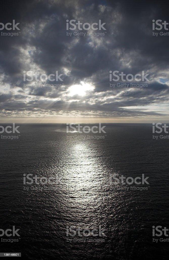 Irish sea skyscape royalty-free stock photo