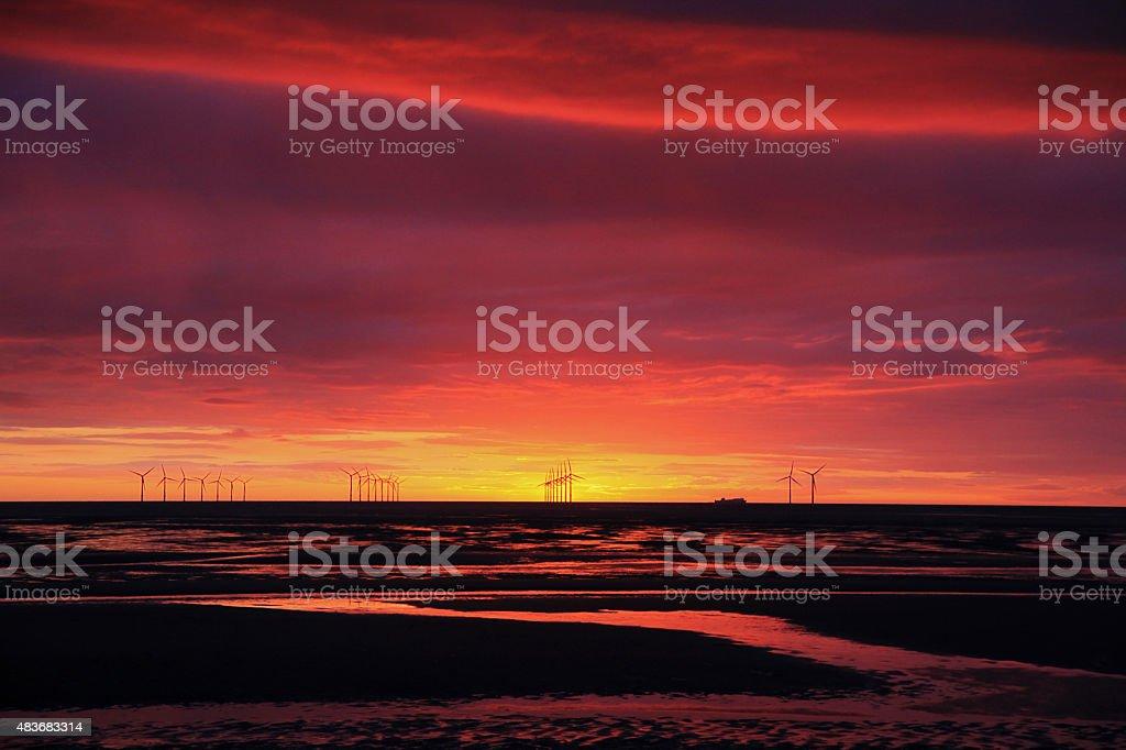 Irish Sea Sunset stock photo
