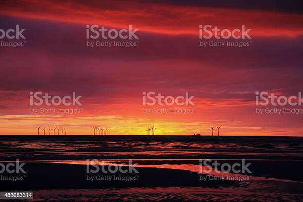 Irish Sea Sunset Stock Photo - Download Image Now