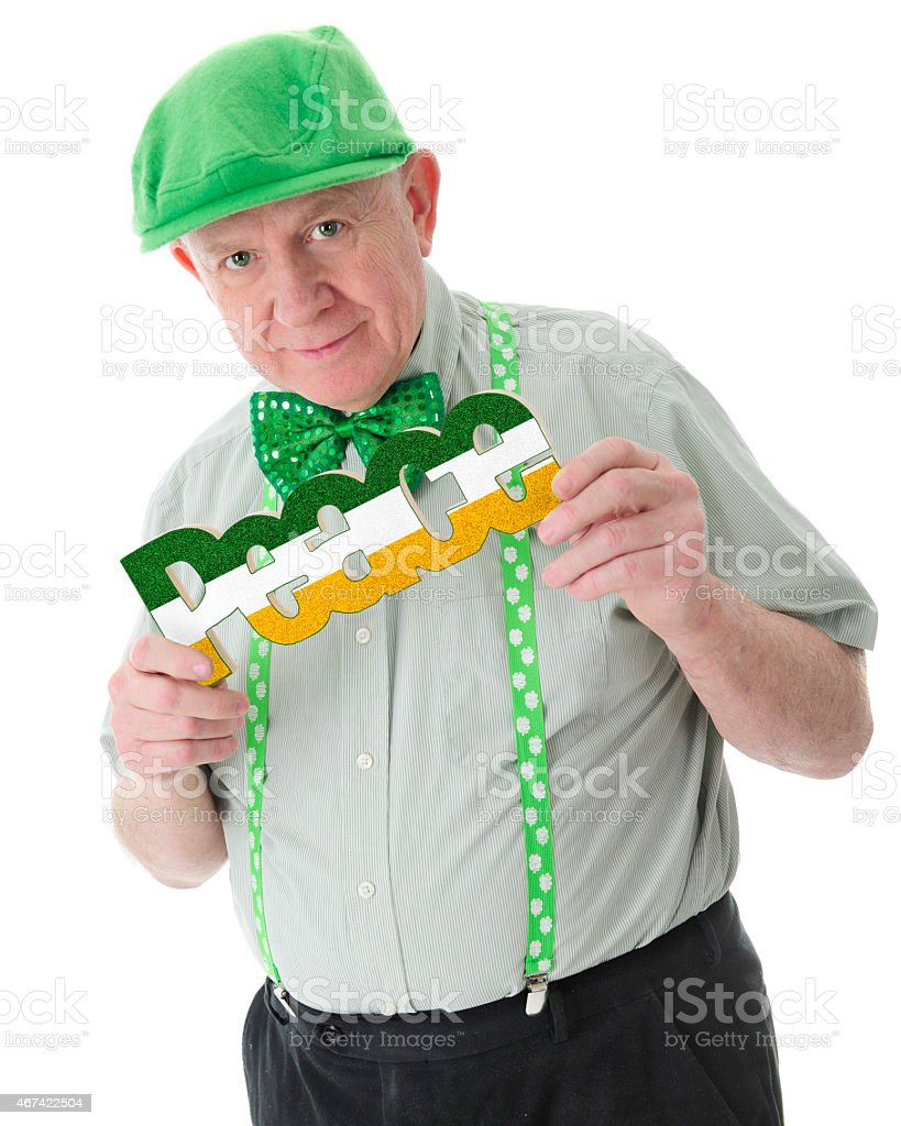 Irish Senior for Peace stock photo