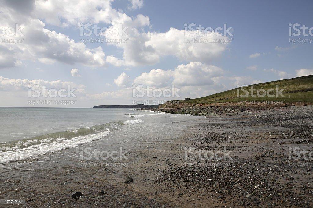 Irish shore stock photo