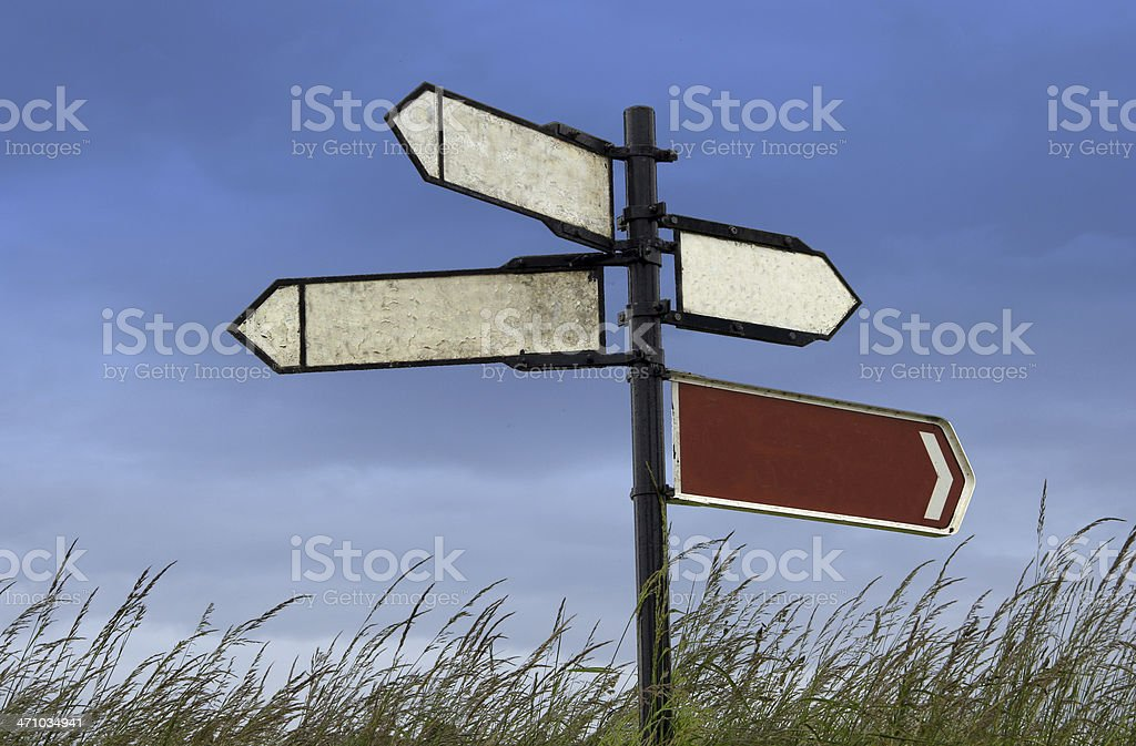 Irish signpost (no text) royalty-free stock photo