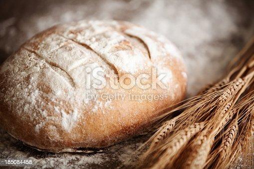 Irish soda bread & dry wheat stalks.