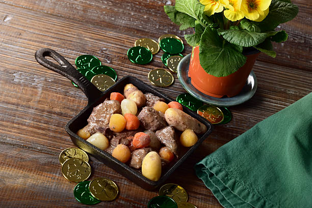 irish stew for st. patrick's day - st patricks day food stock photos and pictures