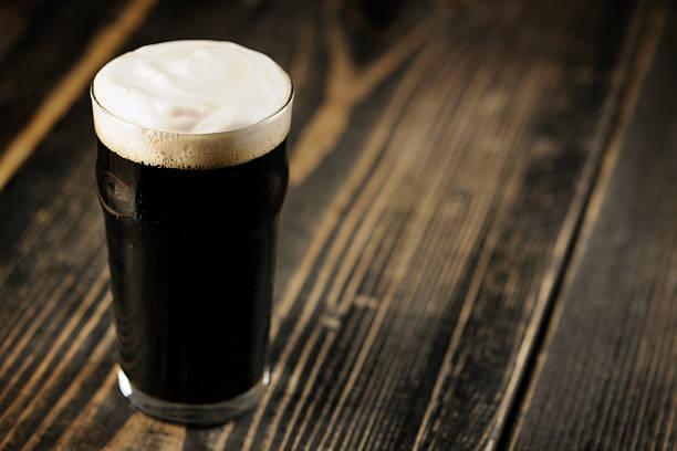 Irish Stout beer stock photo