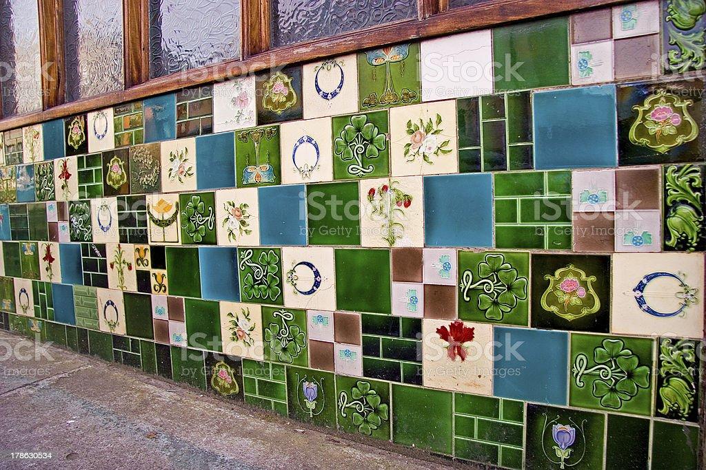 Irish Tile Wall stock photo