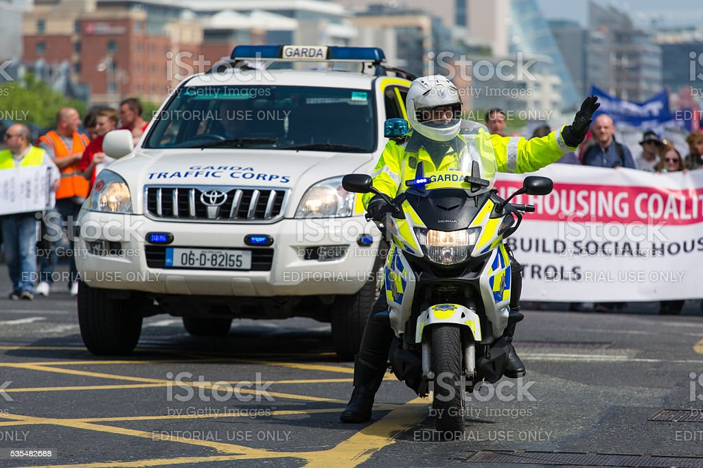 Irish Traffic Corps stock photo