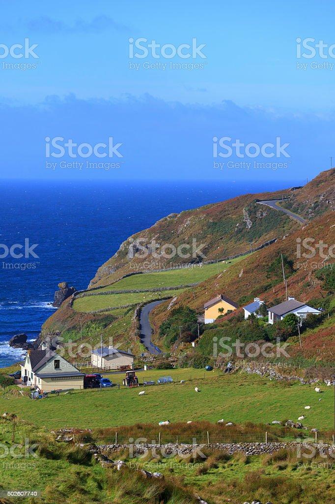 Irish village in Dingle Peninsula stock photo