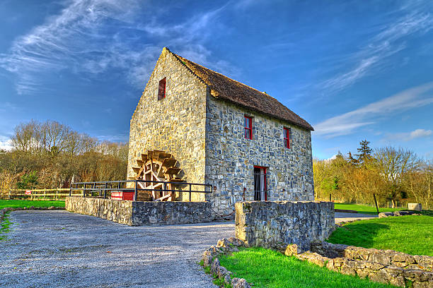 Irish water mill 19th century water mill in Co. Clare, Ireland county clare stock pictures, royalty-free photos & images