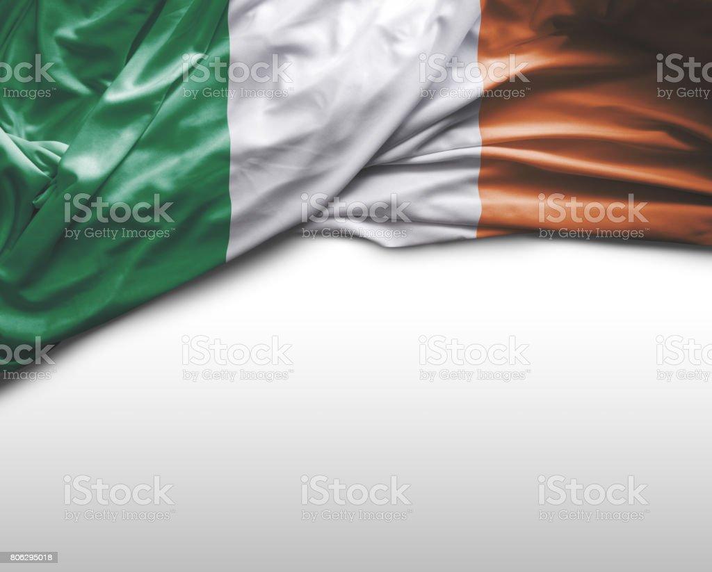 Irish waving flag stock photo