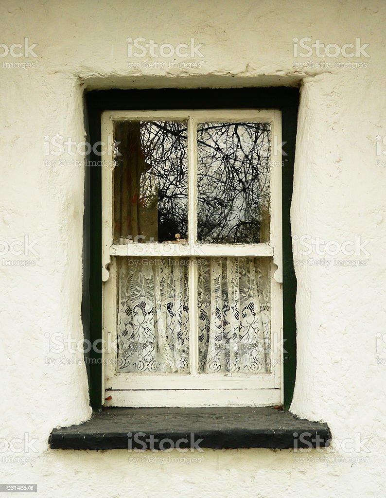 Irish whitewash Country Cottage casement Window royalty-free stock photo