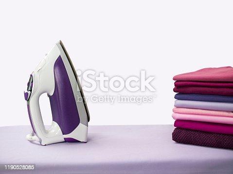 Iron and folded shirts
